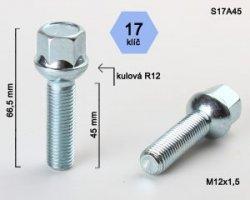 Varžtai 12X1,5 45 sfer. S17A45 (300)