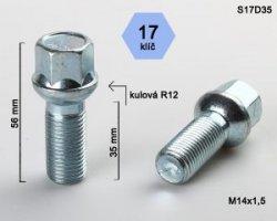 Varžtas 14X1.5 30 H17  sferinis  S17D30(250)
